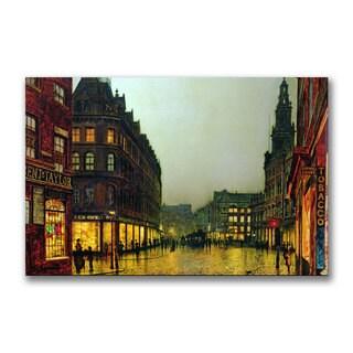 John Grimshaw 'Boar Lane Leeds 1881' Canvas Art