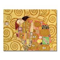 Gustav Klimt 'Fulfillment' Canvas Art - Multi