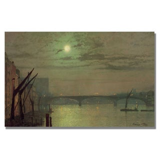 John Grimshaw 'Southwark Bridge 1882' Canvas Art