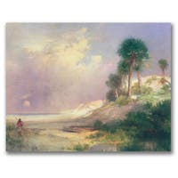 Thomas Moran 'Florida 1895' Canvas Art - Multi