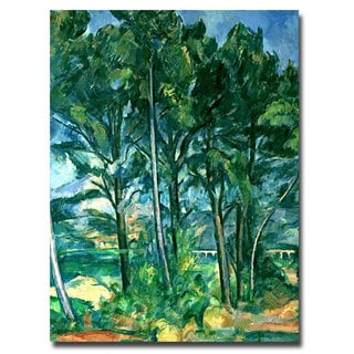 Paul Cezanne 'The Aqueduct' Canvas Art