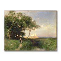 Thomas Moran 'The Coast of Florida 1882' Canvas Art - Multi