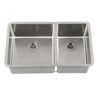 Schon Undermount 16-Gauge Stainless Steel Radius Corner 60/40 Kitchen Sink