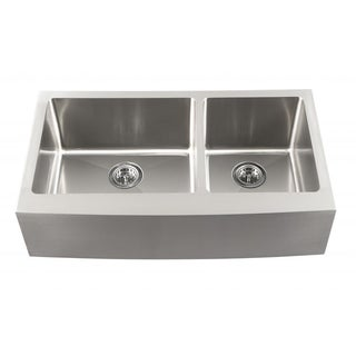 Schon Undermount 16-Gauge Stainless Steel Apron-Front Double Bowl 60/40 Kitchen Sink