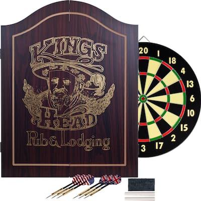 Trademark Games King's Head Value Dartboard Cabinet Set