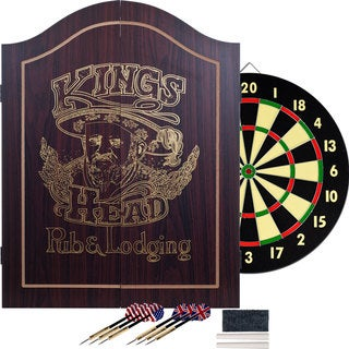 Trademark Games King's Head Value Dartboard Cabinet Set