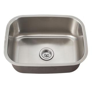 Schon Undermount 18-Gauge Stainless Steel Single Bowl Sink