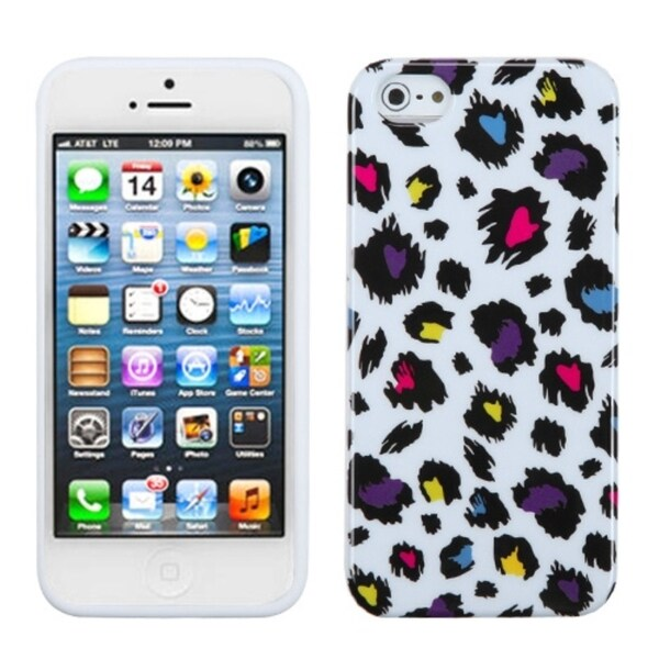 INSTEN Jagged Colorful Leopard Phone Case for Apple iPhone 5/ 5S/ SE