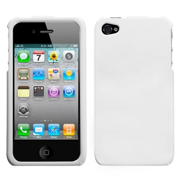 INSTEN Solid Ivory White Phone Case Cover for the Apple iPhone 4/ 4S