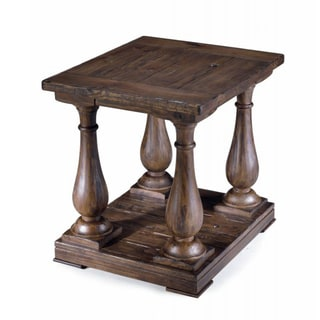 Densbury Traditional Rustic Natural Pine End Table
