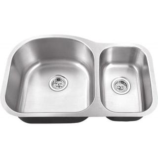 Schon Undermount 18-Gauge Stainless Steel 70/30 Kitchen Sink