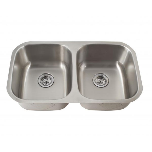 Schon 50/50 Undermount 16-Gauge Stainless Steel Kitchen Sink