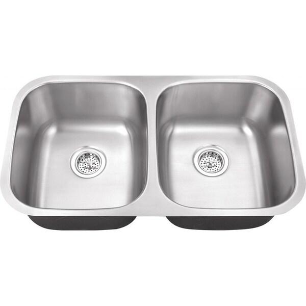 Schon Undermount 18-Gauge Stainless Steel 50/50 Kitchen Sink