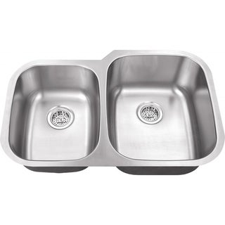 Schon Undermount 18-Gauge Stainless Steel 40/60 Kitchen Sink