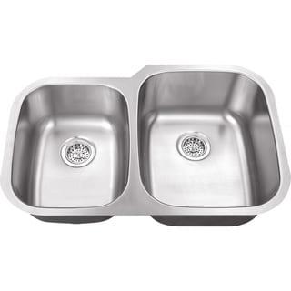 Schon Undermount 18-Gauge Stainless Steel 40/60 Kitchen Sink