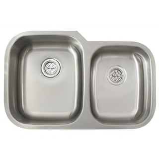 Schon Undermount 16-Gauge Stainless Steel 60/40 Kitchen Sink