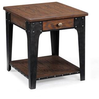 Lakehurst Rustic Natural Ash Rectangular End Table with Storage