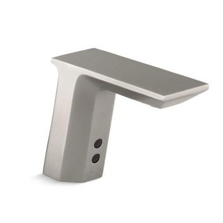 Kohler Geometric Vibrant Stainless Touchless DC-powered Bathroom Sink Faucet