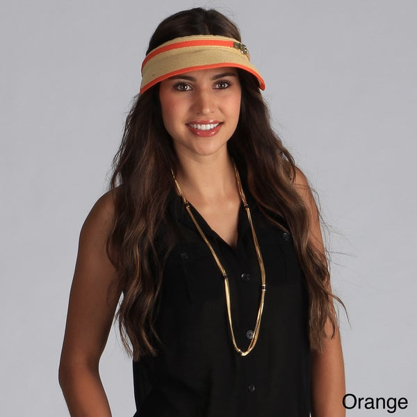 Calvin Klein Women's Straw Visor Hat