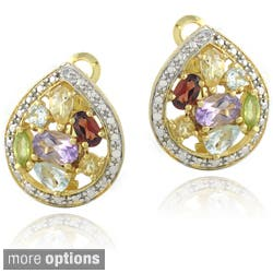 Glitzy Rocks Two-tone Multi-gemstone and Diamond Accent Teardrop Earrings|https://ak1.ostkcdn.com/images/products/8019871/Glitzy-Rocks-Two-tone-Multi-gemstone-and-Diamond-Accent-Teardrop-Earrings-P15382832.jpg?impolicy=medium