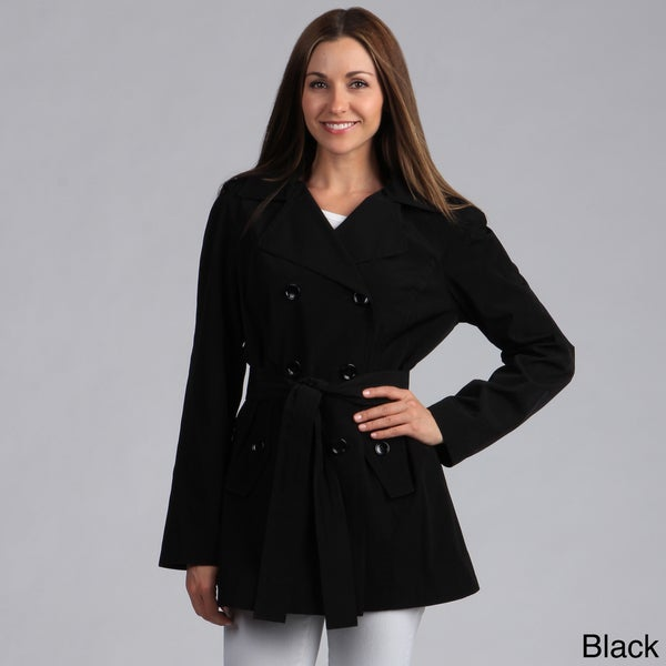 Calvin Klein Women's Belted Double Breasted Trench Coat