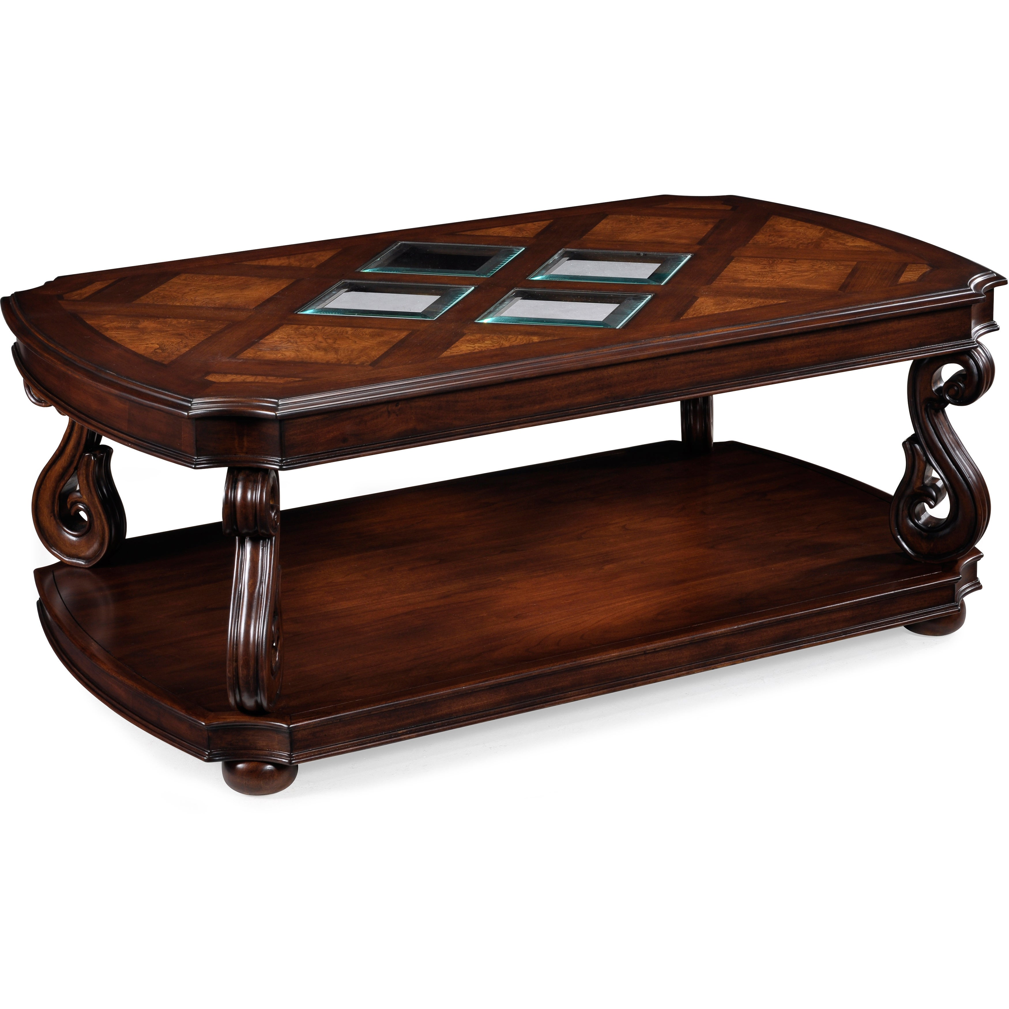 Harcourt Traditional Neo Italian Cherry Coffee Table With Casters 52 X 32 19