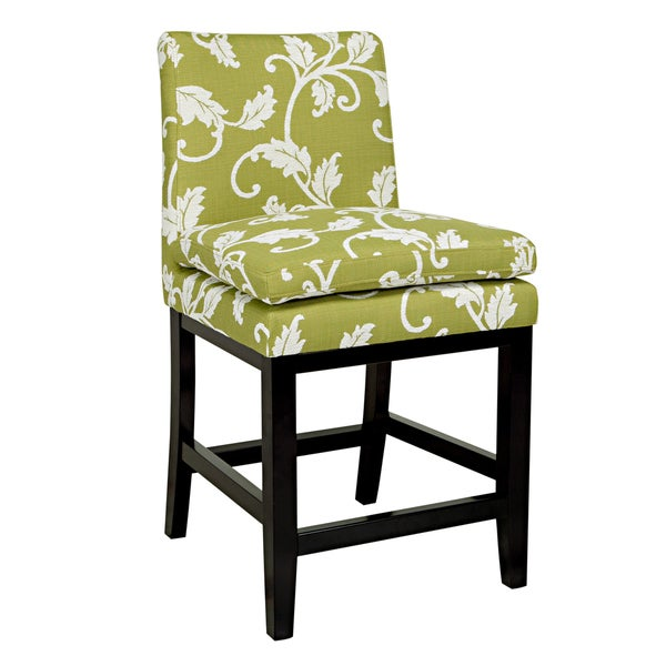 Shop Handy Living Marnie Spring Leaf Upholstered 23 Inch Bar Stool