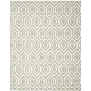 "Safavieh Handmade Moroccan Grey Wool Geometric Rug (8'9"" x 12')"