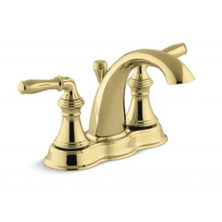 Brass Lavatory Faucet : Restoration Polished Brass 4-inch Center Bathroom Faucet - Free ...
