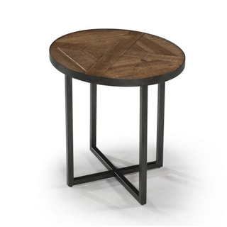 Lakeside Reclaimed Wood Oval End Table