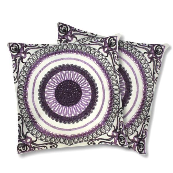 Lush Decor Geovany Plum Decorative Pillows (Set of 2)