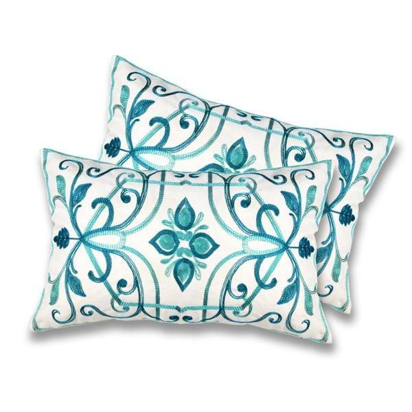 lush decor georgina turquoise decorative pillows set of 2 - Turquoise Decorative Pillows
