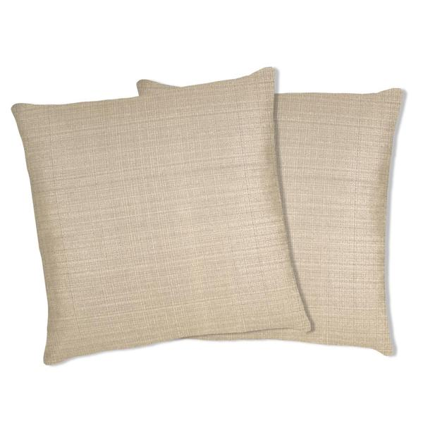 Lush Decor Ivory Linen Square Decorative Pillows (Set of 2)