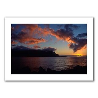 Kathy Yates 'Last Light Over Bali Hai' Unwrapped Canvas - Multi