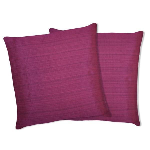 Lush Decor Fuchsia Linen Square Decorative Pillows (Set of 2)