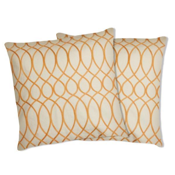 Shop Lush Decor Ginna Orange Decorative Pillows Set Of 40 Free Stunning Lush Decor Pillows