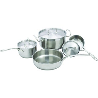 Winco Deluxe 7-Piece Stainless Steel Cookware Set