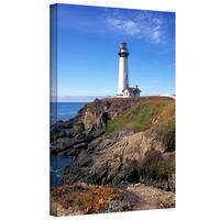 Kathy Yates 'Pigeon Point Lighthouse 2' Gallery-Wrapped Canvas - Multi