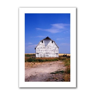 Kathy Yates 'Old White Barn' Unwrapped Canvas