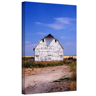 Kathy Yates 'Old White Barn' Gallery-Wrapped Canvas