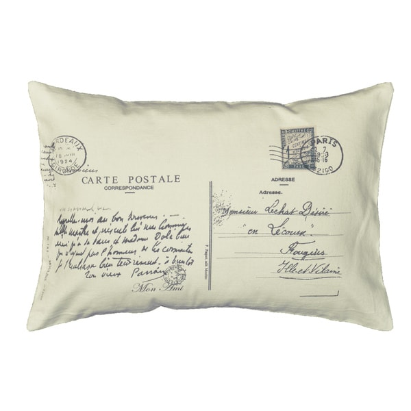 Decorative Pillows Small : Postcard Letter Small Bolster Decorative Pillow - Free Shipping On Orders Over $45 - Overstock ...