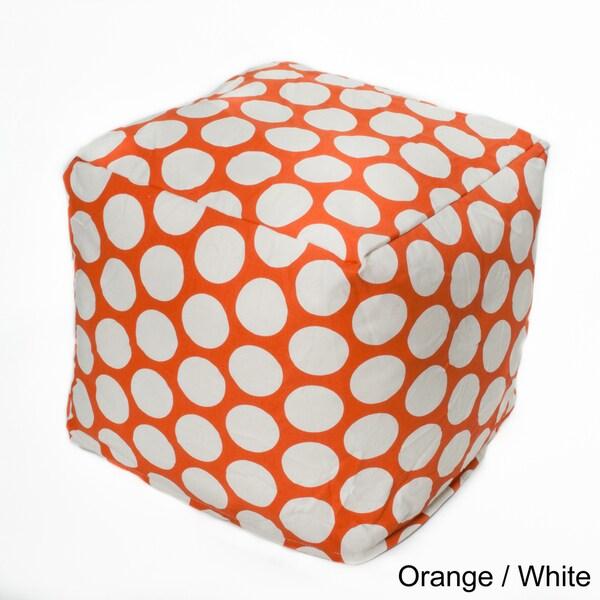 Polka-dot 17-inch Bean Bag Cube