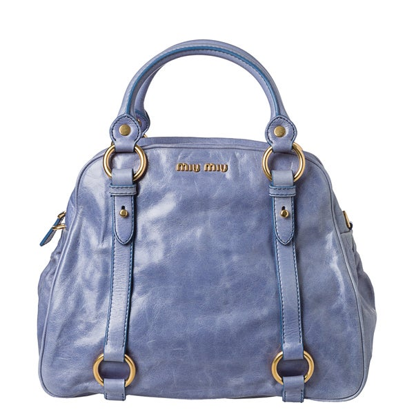 994fe706d4c8 Shop Miu Miu  Vitello  Shine Satchel - Free Shipping Today ...