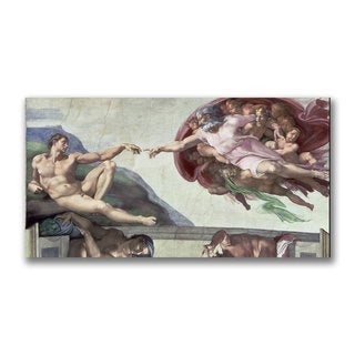 Michelangelo 'Sistine Chapel Ceiling' Canvas Art - Multi