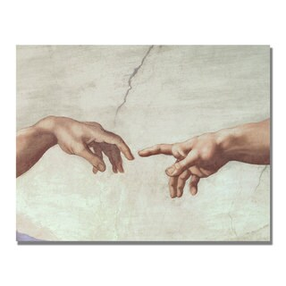 Michelangelo 'Hands of God' Canvas Art - Multi