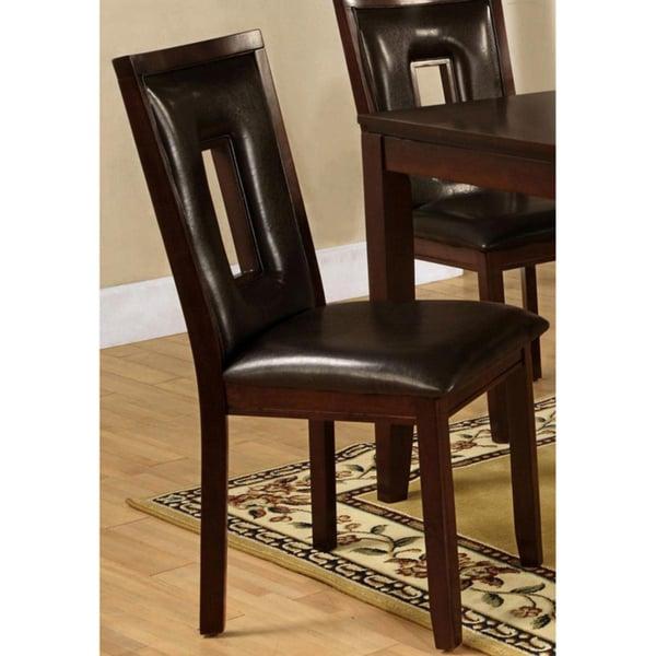 Dahlia Keyhole Dark Brown Dining Chairs Set Of 2 Free