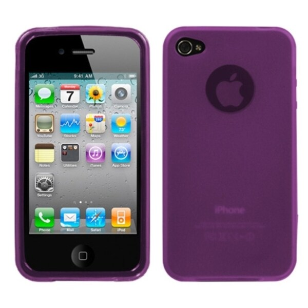 BasAcc Semi-Transparent Purple Candy Skin Case for Apple iPhone 4/ 4S