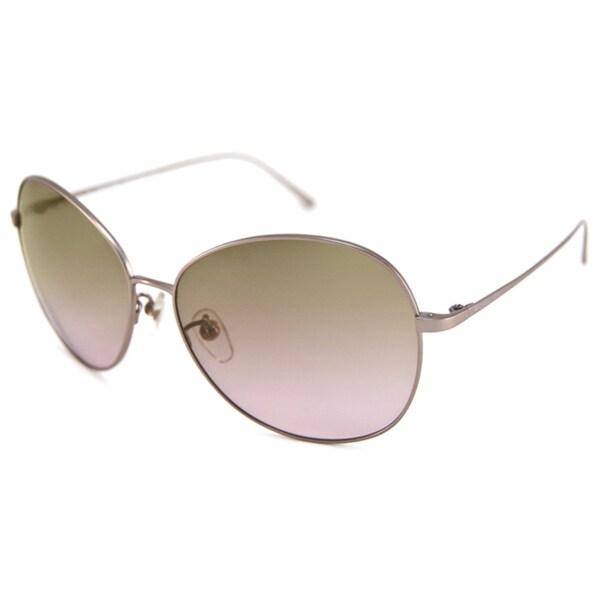 Michael Kors Women's MKS734 Round Metal Frame Bretton Aviator Sunglasses