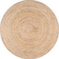 White Round, Oval & Square Area Rugs