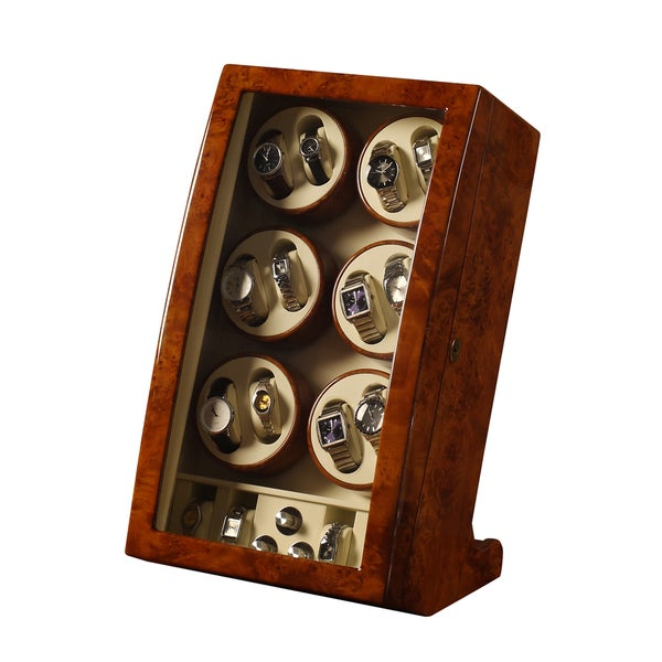 Carre 16-watch Camphor Finish Watch Box/ Display Case